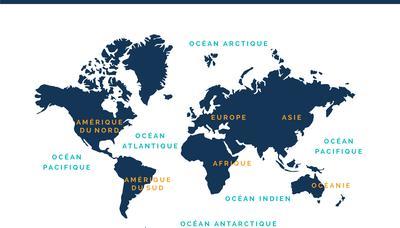 Carte Asie Facile.Carte Des Oceans Et Des Continents Surfrider Ocean Campus